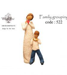 مجسمه ویلوتری مدل گروه خانواده کد 522 بسته 2 عددی
