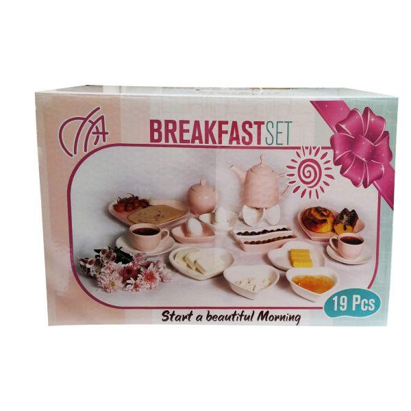 سرویس صبحانه خوری 19 پارچه طرح قلب