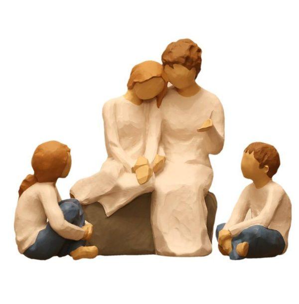مجسمه امین کامپوزیت مدل Family Grouping کد 503 مجموعه 3 عددی