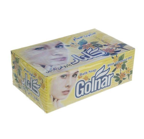 صابون گلنار مدل Coconut oil بسته 6 عددی